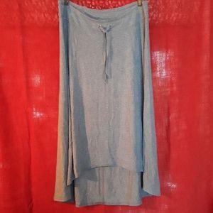 Athleta High Low Jersey Midi Skirt